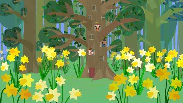 Die Elfen im kleinen Königreich freuen sich: Endlich ist der Frühling da. | Rechte: ZDF/Astley Baker Davies Ltd/Rubber Duck Entertainment