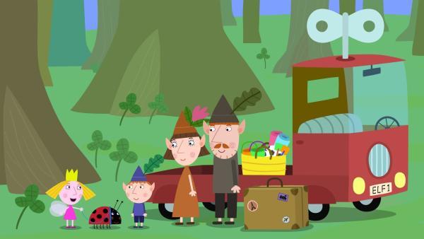 Bevor Ben mit seiner Familie in den Urlaub aufbricht, möchte er noch schnell Holly mit Gaston zum Tierarzt begleiten. | Rechte: ZDF/Astley Baker Davies Ltd/Rubber Duck Entertainment