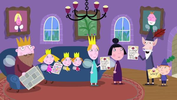 König Leopold kündigt sich zum Besuch im kleinen Königreich an. | Rechte: ZDF/Astley Baker Davies Ltd/Rubber Duck Entertainment