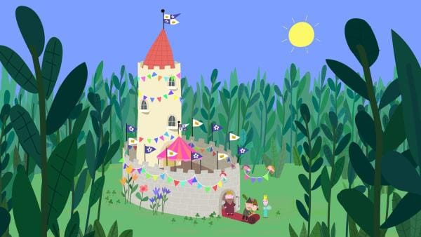 Im kleinen Schloss wird für den prominenten Besucher eine Party organisiert. | Rechte: ZDF/Astley Baker Davies Ltd/Rubber Duck Entertainment