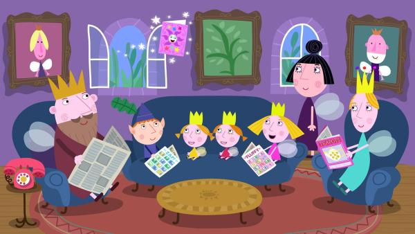 Oma Aurikel hat eine Zaubereinladung geschickt für ihre nächste Zauberparty. | Rechte: ZDF/Astley Baker Davies Ltd/Rubber Duck Entertainment