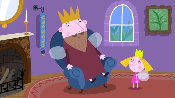 Der König langweilt sich. Er braucht ein neues Hobby. | Rechte: ZDF/Contender Entertainment