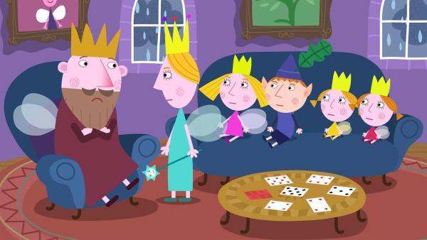 Der König und die Königin beraten, welches Haustier sich am besten für die Zwillinge eignet. | Rechte: ZDF/Contender Entertainment