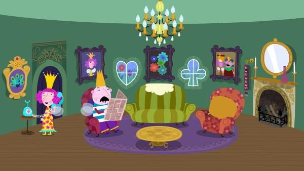 König und Königin Marigold erwarten den Besuch von Holly und iher Familie. | Rechte: ZDF/Contender Entertainment