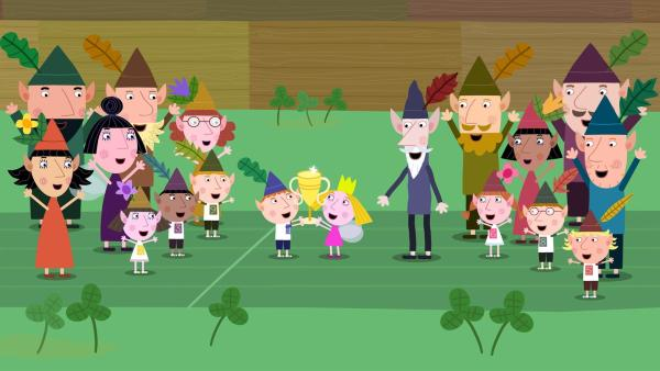 Am Ende kann Ben doch die Elfenspiele gewinnen - auch ohne Zauberei.   Rechte: ZDF/Astley Baker Davies Ltd/Rubber Duck Entertainment
