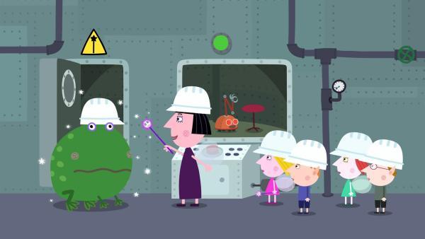 Auch Nanny Plums Zauberstab wurde generalüberholt. | Rechte: ZDF/Astley Baker Davies Ltd/Rubber Duck Entertainment