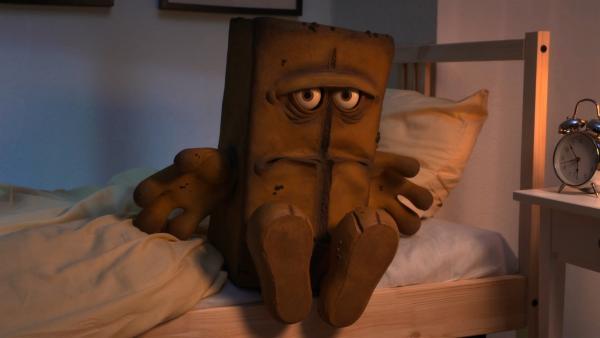 Bernd  begibt sich zur Nachtruhe. | Rechte: KiKA/bumm film München GmbH
