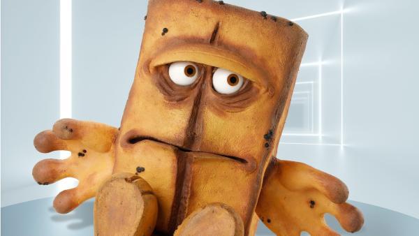 Bernd das Brot in seinem schalldichten Zimmer | Rechte: KiKA/Bernd Lammel