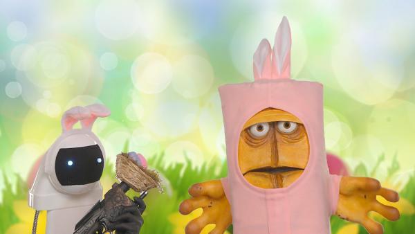12. Bernd und der Osterhasenroboter | Rechte: KiKA
