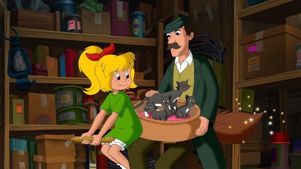 Bibi ist entzückt, dass sie den niedlichen Untermietern des Hausmeisters helfen kann. | Rechte: ZDF/A. Film A/S und KIDDINX Studios GmbH