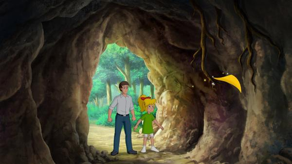 Bibi und Papa Bernhard suchen dringend diejenigen, die ihr Baumhaus verwüstet haben.   Rechte: ZDF/A. Film A/S und KIDDINX Studios GmbH