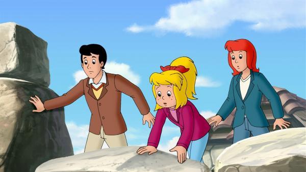 Bibi, Tina und Alex suchen den Schatz. | Rechte: ZDF/KIDDINX Studios GmbH