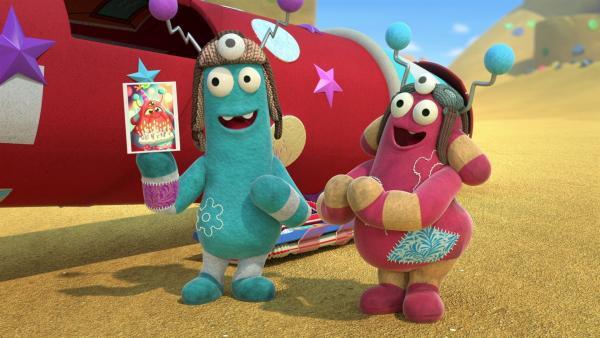 Die Außerirdischen Plipp und Zopp wollen zum Geburtstag ihrer Alien-Oma. | Rechte: KiKA/BBC/Boat Rocker Rights Inc. MMXVIII