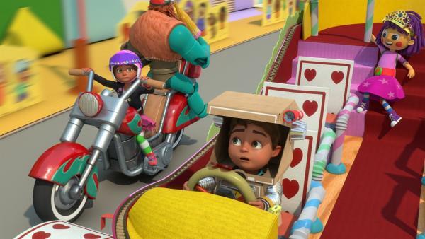 Bob versucht die Kutsche der Prinzessin unter Kontrolle zu bringen. | Rechte: KiKA/BBC/Boat Rocker Rights Inc. MMXVIII