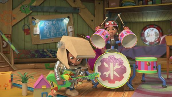 Bitz und Bob rocken ab. | Rechte: KiKA/BBC/Boat Rocker Rights Inc. MMXVIII
