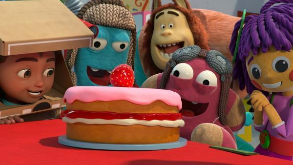 Bitz backtastische Torte lässt alle staunen. | Rechte: KiKA/BBC/Boat Rocker Rights Inc. MMXVIII