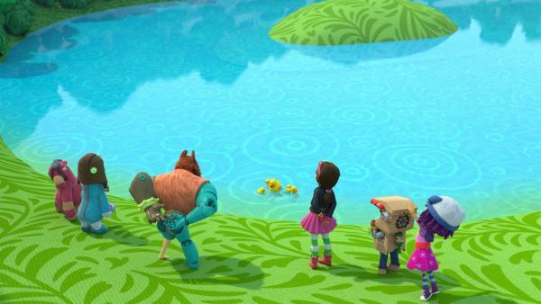 Schwimmen ist schön, aber wo sollen die Entlein wohnen? | Rechte: KiKA/BBC/Boat Rocker Rights Inc. MMXVIII