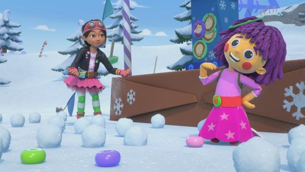 Mit Schneebällen wirft man lieber als damit zu zählen. | Rechte: KiKA/BBC/Boat Rocker Rights Inc. MMXVIII