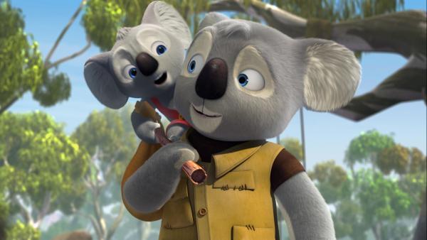 Der junge Koala Blinky Bill wäre am liebsten der größte Abenteurer von Greenville, genau wie sein Vater William, der einst das Städtchen als Rückzugsort für Tiere in Not gegründet hat. | Rechte: KiKA/Assemblage Entertainment/Flying Bark Productions/Telegael