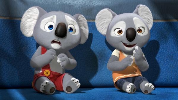 Die Koalabären Blinky (l.) und Katie. | Rechte: KiKA/Assemblage Entertainment/Flying Bark Productions/Telegael