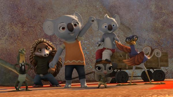Blinky und seine Freunde, Jacko, Katie, Sugar, Robert und Spike bilden die Greenville-Rettungseinheit.    Rechte: KiKA/Studio 100 Media / Flying Bark