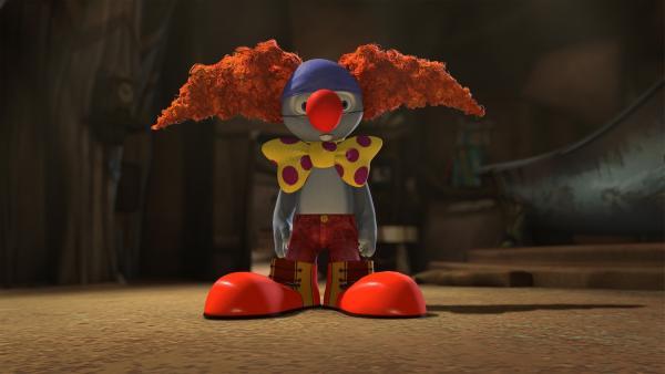 Blinky verkleidet sich als Clown. | Rechte: KiKA/Studio 100 Media / Flying Bark