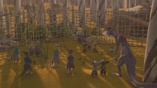 Kev zieht einen Schutzzaun um Greenville, niemand kommt herein, niemand kommt heraus. | Rechte: KiKA/Studio 100 Media / Flying Bark