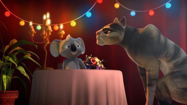 Der clevere Blinky lockt Sir Charles in eine Falle. | Rechte: KiKA/Studio 100 Media / Flying Bark