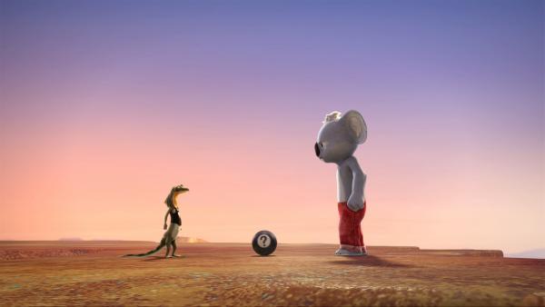 Blinky und Jacko im Duell um die sprechende Zauberkugel. | Rechte: KiKA/Studio 100 Media / Flying Bark