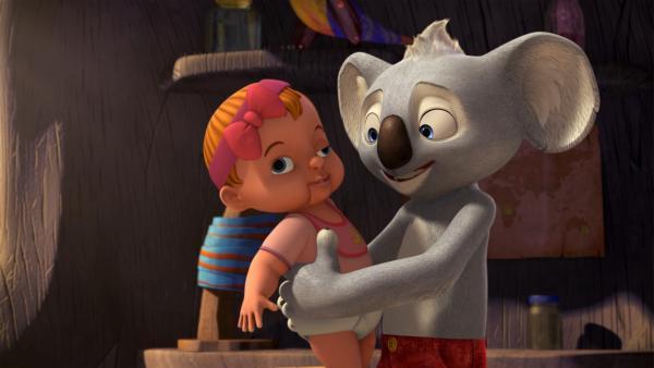 Blinky findet Gefallen an seinem Findelkind Trudi. | Rechte: KiKA/Studio 100 Media / Flying Bark