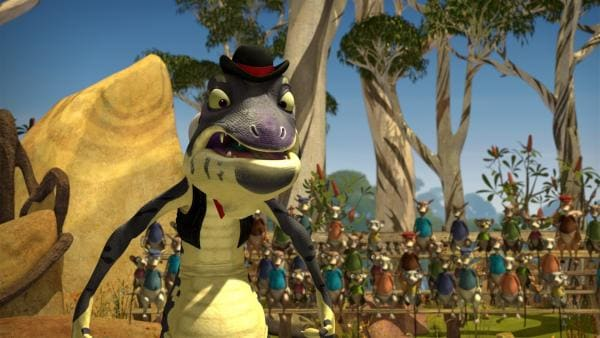 Sheriff Jacko entlarvt Crankys mieses Spiel. | Rechte: KiKA/Studio 100 Media / Flying Bark