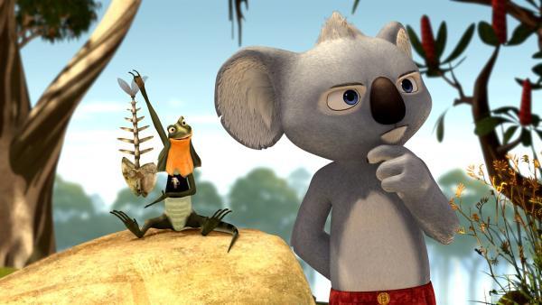 Für Blinky riecht es nach Abenteuer, für seinen Freund Jacko riecht es irgendwie nach Fisch. | Rechte: KiKA/Studio 100 Media/Flying Bark