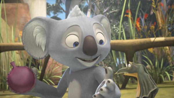 Blinky will Jacko zeigen, dass er der Lustigste ist und spielt Mrs. Tibbins einen Streich.  | Rechte: KiKA/Studio 100 Media / Flying Bark