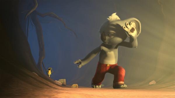 Blinky und Jacko auf der Suche nach Tootys Freunden. | Rechte: KiKA/Studio 100 Media / Flying Bark