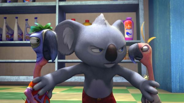 Blinky muss sich einiges einfallen lassen, um die Streithähne wieder zu versöhnen. | Rechte: KiKA / Studio 100 Media / Flying Bark