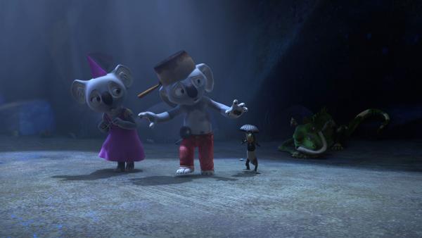 Im Geheimen-Geschichten-Club erzählt Blinky eine Geschichte von Drachen, Rittern und einer Prinzessin.   Rechte: KiKA/Studio 100 Media/Flying Bark