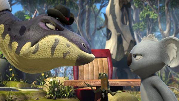 Blinky legt sich mal wieder mit Cranky an. | Rechte: KiKA/Studio 100 Media / Flying Bark