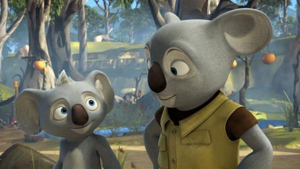 Blinkys Vater will sich dem Parcours der Feiglinge stellen. | Rechte: KiKA/Studio 100 Media / Flying Bark