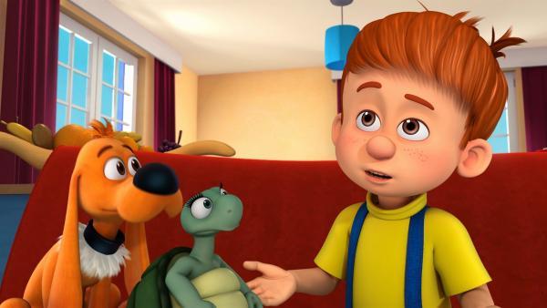Die drei Freunde sollen allein bleiben. | Rechte: NDR/Studio Boule et Bill