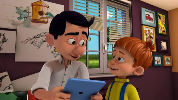 Papa braucht eine neue Brille. | Rechte: NDR/Studio Boule et Bill