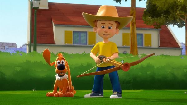Bobby und Bill auf der Jagd. | Rechte: NDR/Studio Boule et Bill