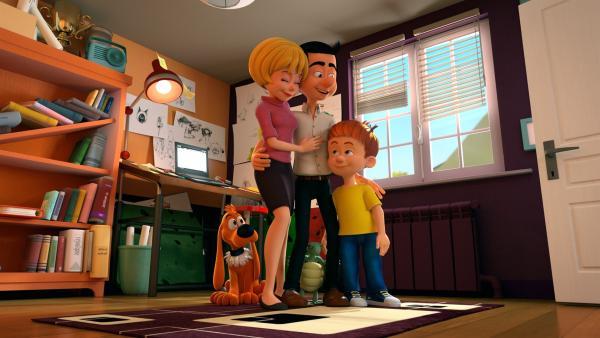 Mama und Papa beruhigen Bobby. | Rechte: NDR/Studio Boule et Bill