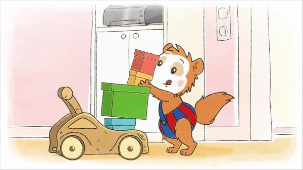 Bobo möchte Mama ganz viele Pakete schicken. | Rechte: WDR/JEP ANIMATION