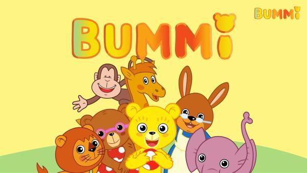 Der kleine Bär Bummi (Mi.) und seine Freunde: die Bärin Binchen, das Affe Yam Yam, Giraffe Malia, Löwe Eddie, Elefant Tutu und Hasen-Oma erleben jeden Tag aufregende Abenteuer. | Rechte: KiKA/Studio 88