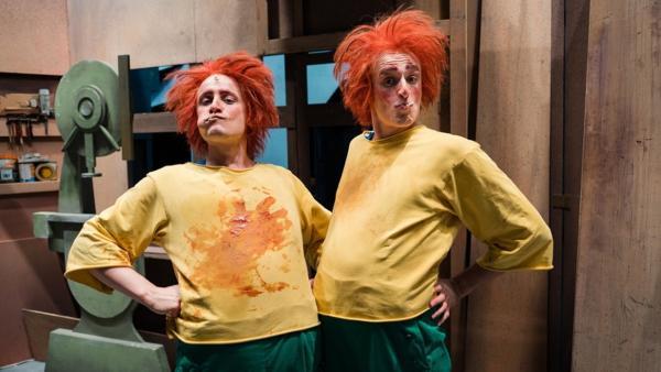 Der Pumuckl-Check / Schauspieler Christian und Checker Julian als Pumuckl verkleidet. | Bild: BR / megaherz GmbH | Rechte: BR / megaherz GmbH