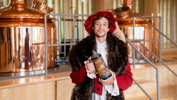 Der Alkohol-Check | Tobi als Herzog Wilhelm IV., der Erfinder des Reinheitsgebots | Bild: BR | megaherz GmbH | hans-Florian Hopfner | Rechte: BR | megaherz GmbH | hans-Florian Hopfner