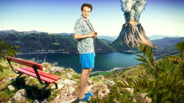 Vulkane in Deutchland   Checker Julian träumt davon, einen speienden Vulkan zu fotografieren.   Bild: BR   megaherz gmbh   Rechte: BR   megaherz gmbh