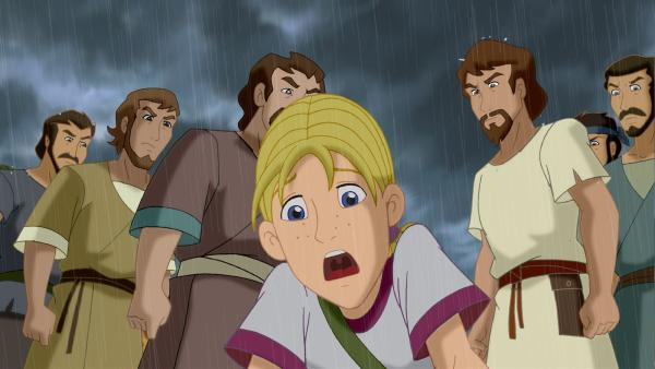 Cora ist entsetzt. Josefs Brüder haben ihren Bruder in eine Zisterne geworfen. Wie kann sie Josef retten?   Rechte: KiKA/Cross Media/Beta/Trickompany 2010