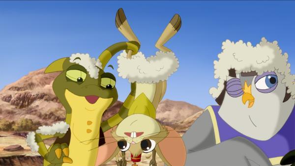 Die Wonderers sind wollweich gelandet. | Rechte: KiKA/Cross Media/Beta/Trickompany 2010