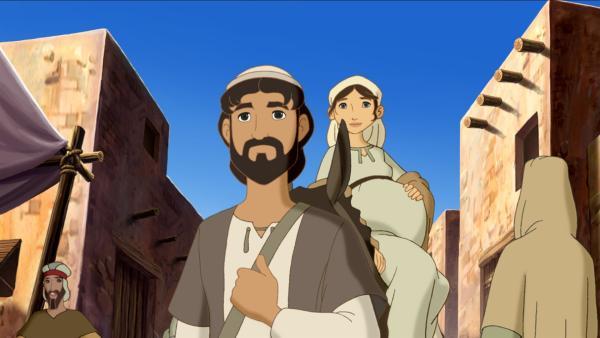 Maria und Josef kommen nach Bethlehem. | Rechte: KiKA/Cross Media/Beta/Trickompany 2010